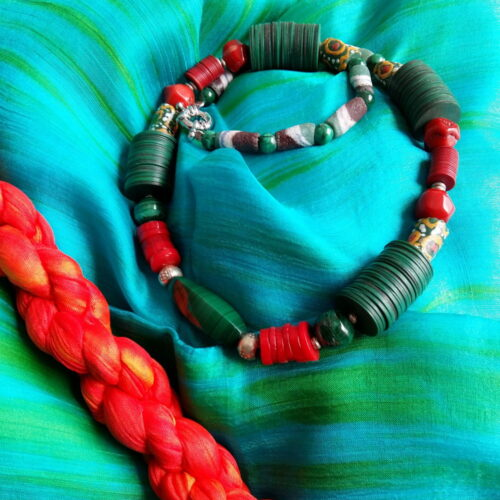 productfoto zijden sjaal