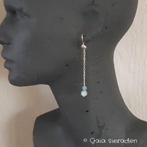 oorbellen Larimar model Maxima
